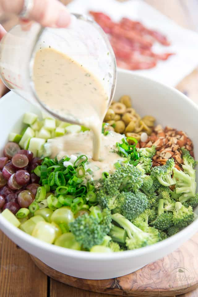 est Ever Broccoli Grape Salad by Sonia! The Healthy Foodie | Recipe on thehealthyfoodie.com