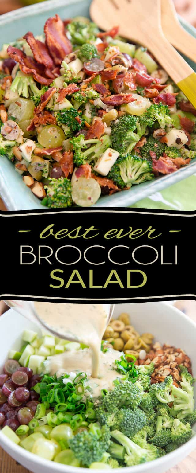 You won't believe the amount of flavor that this Broccoli Grape Salad boasts under its hood! In fact, it tastes so good, you'll have a hard time believing that it also happens to be good for you! And broccoli might very well become your new favorite veggie.