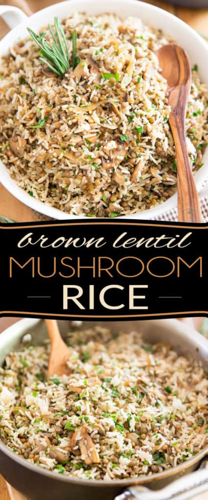 Need a change from plain white rice? This Brown Lentil and Mushroom Rice makes for a very tasty side dish but would also be perfect as a light vegetarian meal!