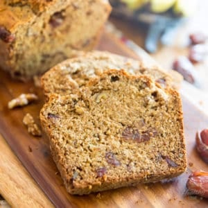 No Sugar Added Whole Wheat Banana Bread