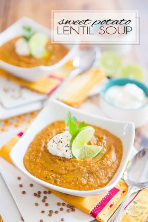 Made with nothing but wholesome ingredients, this Sweet Potato Lentil Soup is a deliciously hearty soup with a bit of an Indian flair... Guaranteed to warm you right up, inside and out!