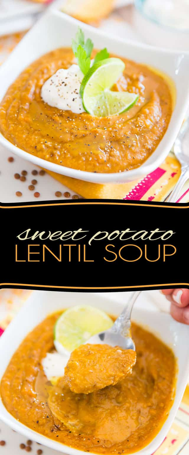 Made with nothing but wholesome ingredients, this Sweet Potato Lentil Soup is a deliciously hearty soup with a bit of an Indian flair… Guaranteed to warm you right up, inside and out!