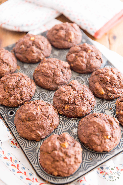 Butternut Squash Apple Spice Muffins in the making - process shot
