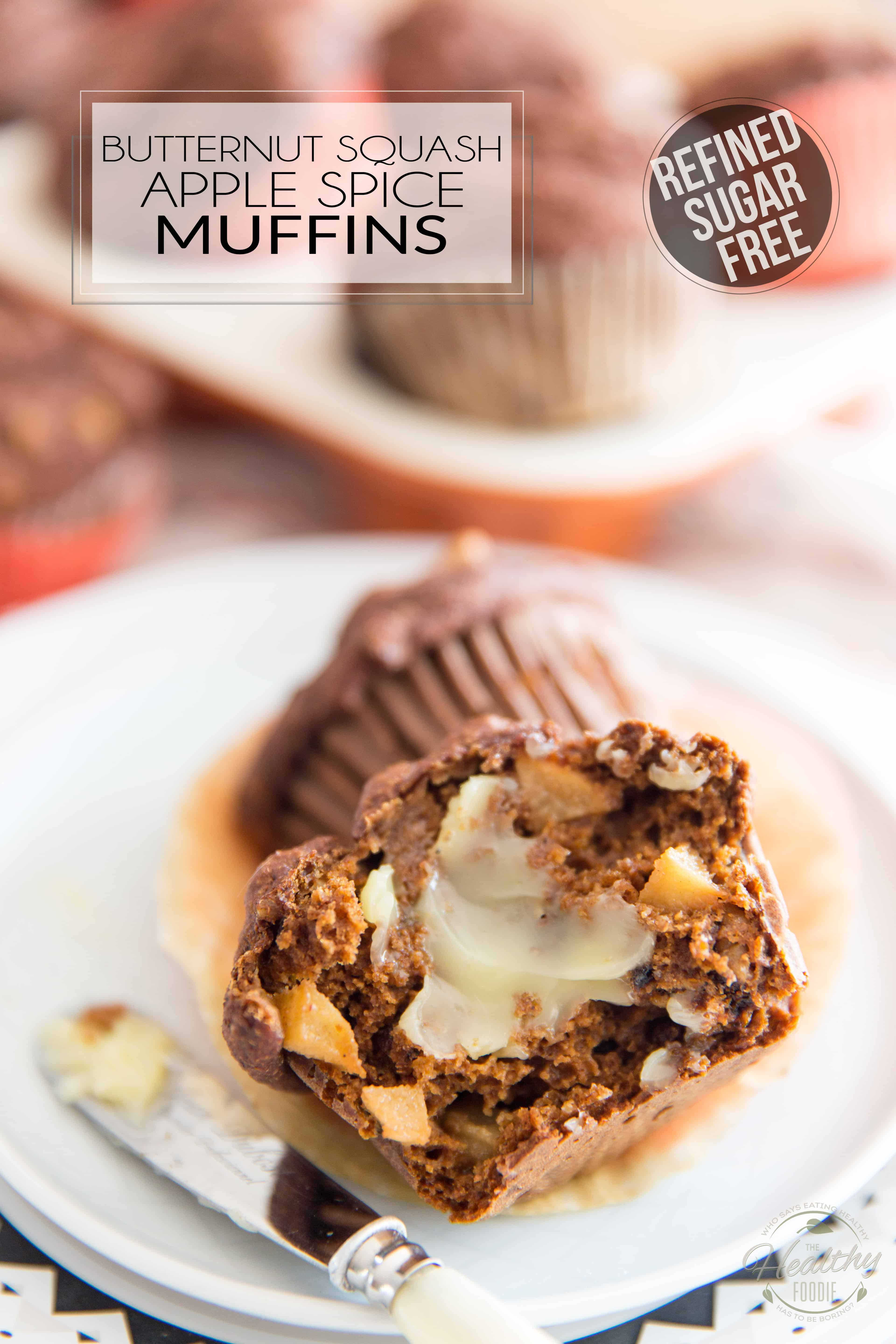Despite them being made with nothing but wholesome ingredients and containing no refined sugar whatsoever, these Butternut Squash Apple Spice Muffins taste so delicious, you'll never believe how healthy they actually are!