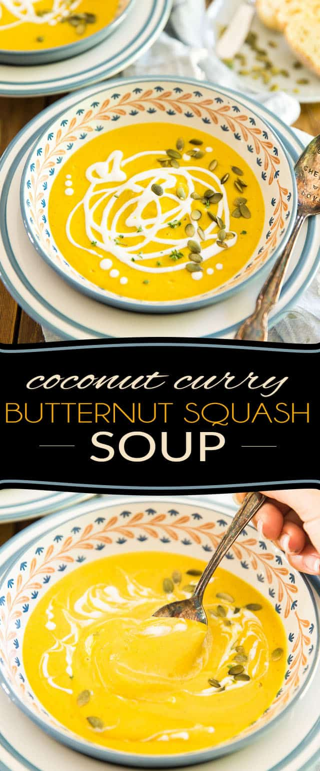 So easy to make, so silky smooth and creamy, this Coconut Curry Butternut Squash Soup is guaranteed to warm your body and soul with every bite!