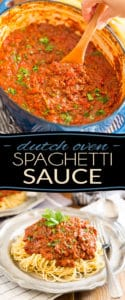 This is probably the easiest, and dare I say tastiest, spaghetti sauce you'll have ever made. And the best part is, no mess to clean up! Try it, you'll love it!