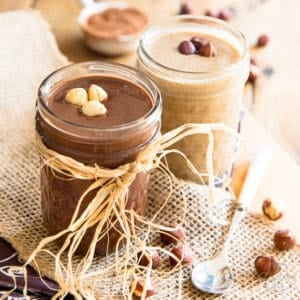 Hazelnut Butter 2 ways: All Natural and Dark Chocolate