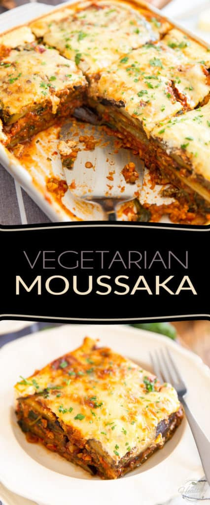 A perfect option for your meatless meals, this super filling, delicious and nutritious vegetarian moussaka is guaranteed to please even those who think they're not big fans of eggplant!