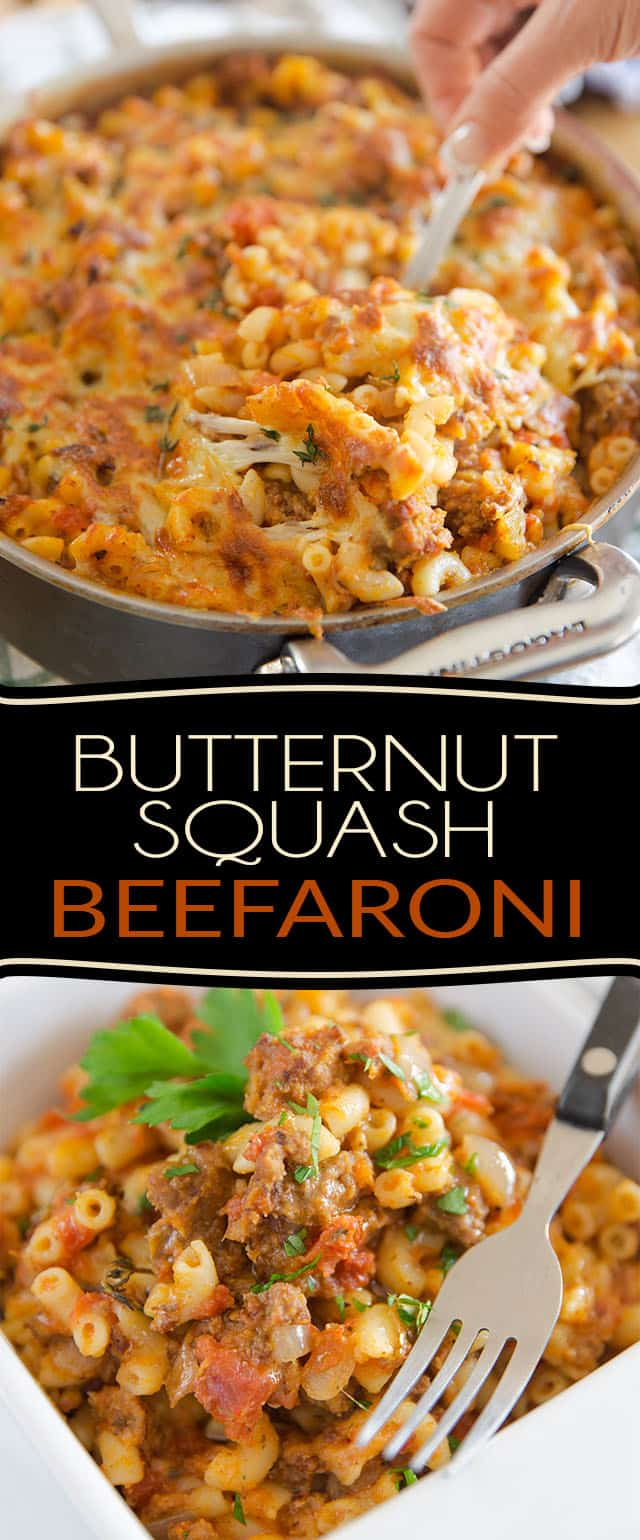 This Butternut Squash Beefaroni is a simple and fantastic way to covertly bring healthy food to the dinner table. Kids and grown-ups alike will be completely dazzled!