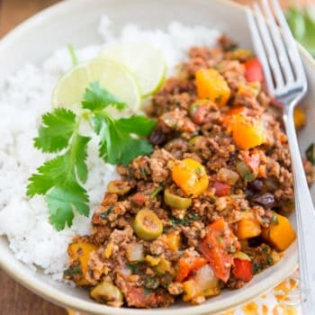 This Costa Rican Butternut Squash Picadillo is exploding with all kinds of exotic and bold flavors and filled with nothing but wholesome ingredients! A healthy gustatory experience you won't soon forget!