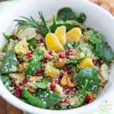 Spinach Quinoa Salad by Sonia! The Healthy Foodie | Recipe on thehealthyfoodie.com
