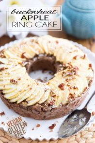 Cakes don't get much healthier than this Buckwheat Apple Ring Cake. On top of being completely vegan, it also happens to be free of gluten and refined sugar. Of course, it's also absolutely delicious!