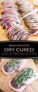 This Homemade Dry Cured Duck Prosciutto is an interesting spin on traditional prosciutto that can be easily made at home with only a few simple ingredients. No special equipment required!