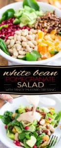 Loaded with nothing but good for you, wholesome ingredients, this White Bean Pomegranate Salad with Tangy Mustard Dressing is so delectable, you won't want to stop eating it!