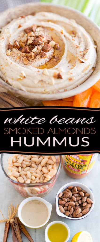 Fan of hummus? This White Beans Smoked Almonds Hummus is a stellar and delectable change from your traditional beloved chickpea dip. It'll have you fall in love at first bite!