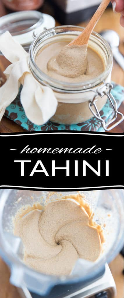 Tahini, aka sesame paste, is a very common ingredient in Mediterranean cuisine and has many uses in the kitchen. Not only is it an essential component in making hummus, or baba ganoush, but it's also fantastic in dressings, sauces and countless recipes!