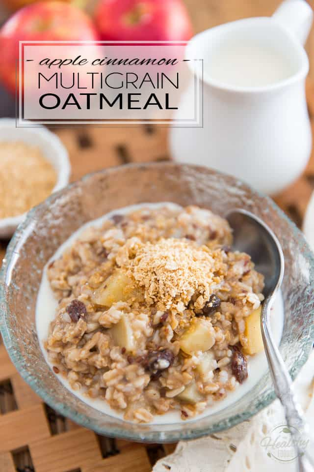 Kick your morning oatmeal up a notch by adding all kinds of delicious flavors, textures and wholesome ingredients to it! This Apple Cinnamon Multigrain Oatmeal not only tastes amazing, it also is satiating enough to provide all the energy needed to keep you feeling full until lunch.