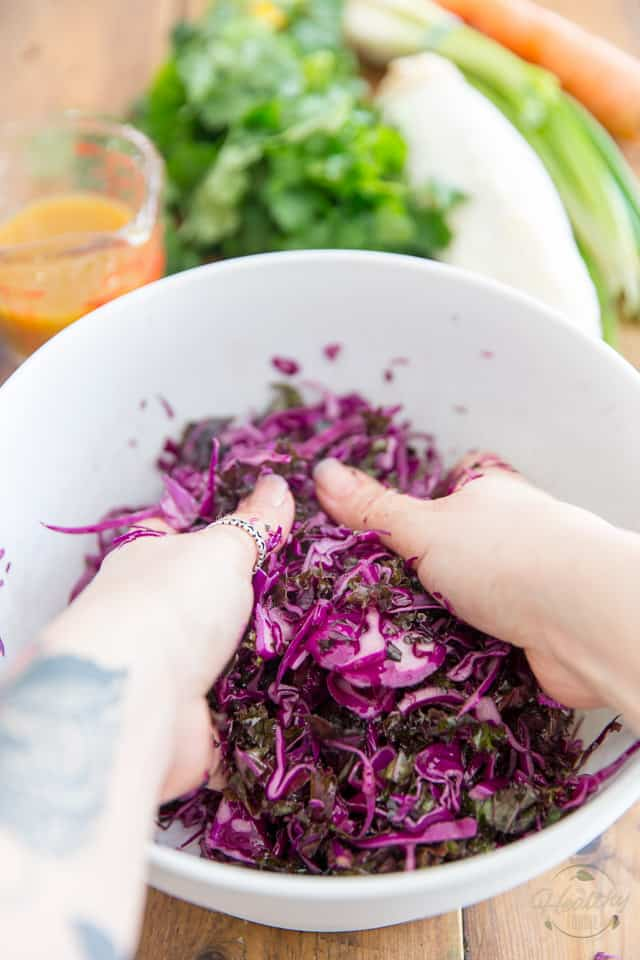 Kaleslaw - A Mixed Cabbage Salad by Sonia! The Healthy Foodie | Recipe on thehealthyfoodie.com
