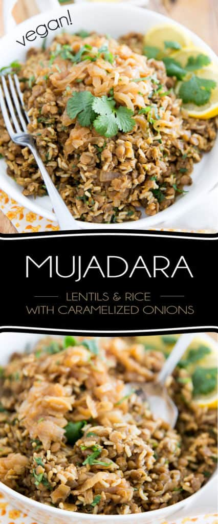 Mujadara is a super simple yet crazy comforting Lebanese dish made with lentils and rice which are slowly simmered with caramelized onions, then tossed with fresh cilantro and served topped with even more caramelized onions! Stunning on its own, or as a side!