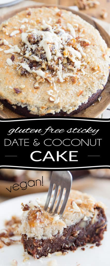 Vegan and gluten-free, this creamy, dreamy, dense, fudgy, heavenly pudding-like Sticky Date and Coconut Cake feels and tastes like pure decadence, yet it only uses real, wholesome ingredients!