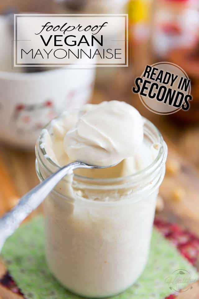 Stop spending crazy amounts of money on Vegenaise and other overly expensive store-bought Vegan Mayonnaise; make your own at home in mere seconds with only 4 simple ingredients; This technique is so quick and easy and produces such a rich, thick and creamy mayonnaise, you'll adopt it as soon as you try it!