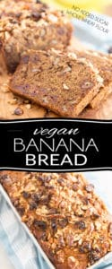 Despite being made with whole wheat flour and containing no added sugar or animal products whatsoever, this Vegan Banana Bread is so moist, so soft, so sweet, so rich and buttery and so deliciously yummy, it'll have everyone completely, positively bamboozled!