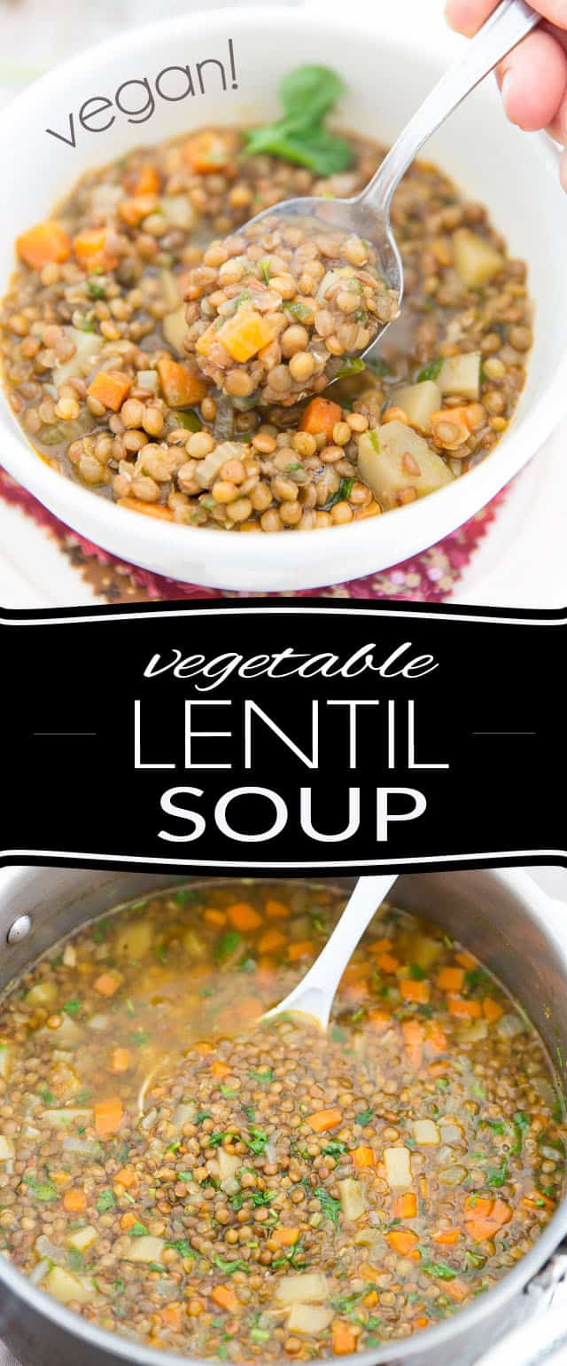 Don't settle for canned soup; homemade is so much better - and saves cans, too! Plus, this one-pot Vegan Vegetable Lentil Soup recipe is so easy to make and tastes so good, it's undoubtedly going to become a family favorite!