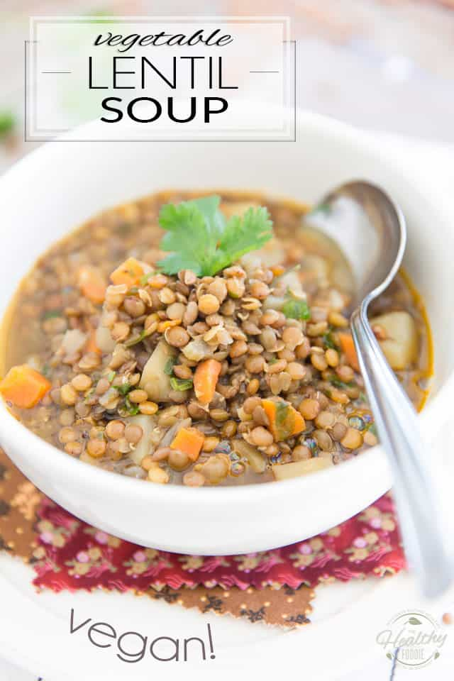 Don't settle for canned soup; homemade is so much better - and saves cans, too! Plus, this one-pot Vegan Vegetable Lentil Soup recipe is so easy to make and tastes so good, it's undoubtebly going to become a family favorite!