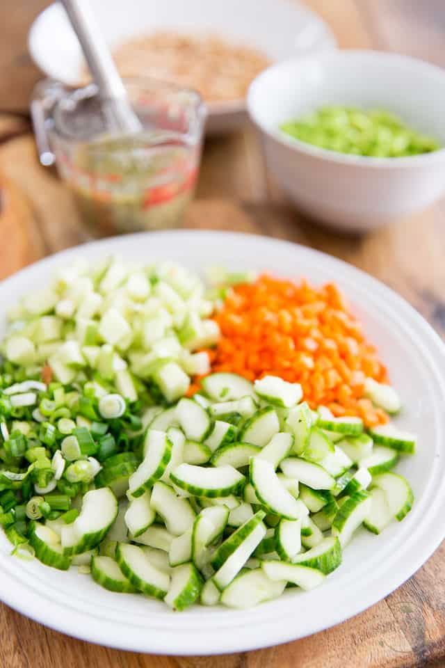 Veggie Barley Salad by Sonia! The Healthy Foodie | Recipe on thehealthyfoodie.com