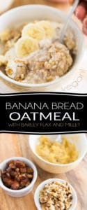 Got a few over-ripe bananas that you need to use up but don't really feel like whipping up a bread or cake? This Banana Bread Oatmeal is the perfect solution for you! Grab those bananas and turn them into a delicious, warm, creamy, wholesome and nutritious breakfast cereal.