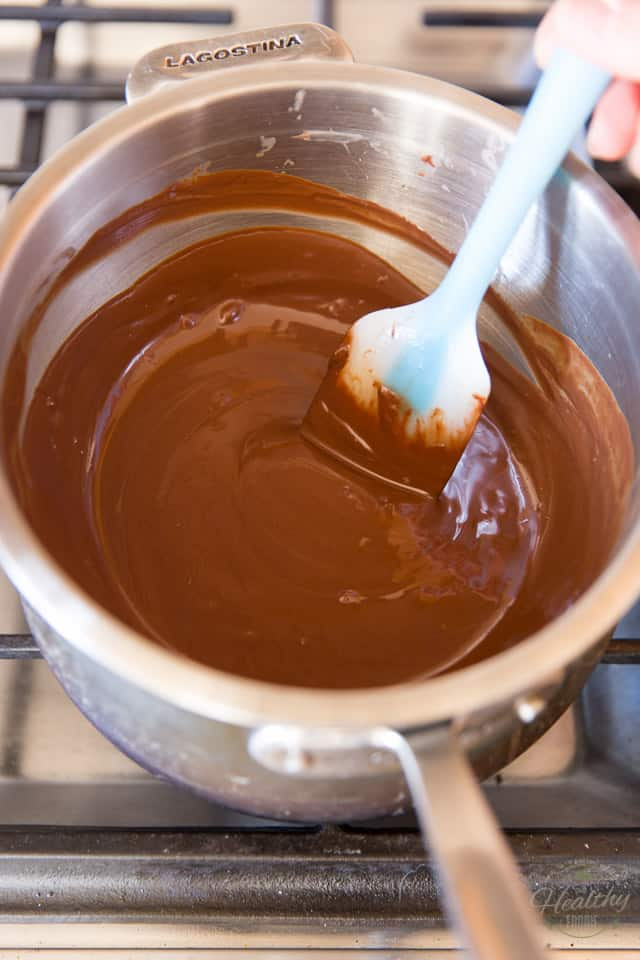 Chocolate melting in a double boiler