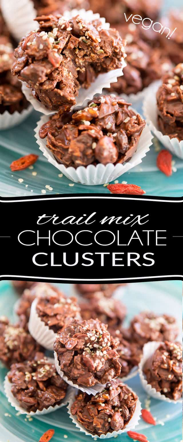Those Trail Mix Chocolate Clusters are perfect for those occasions when you crave a little something sweet but still want to keep things on the healthy side...