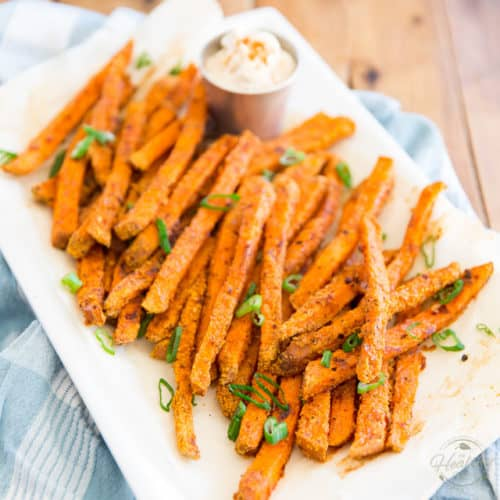 Spicy Oven Baked Sweet Potato Fries The Healthy Foodie