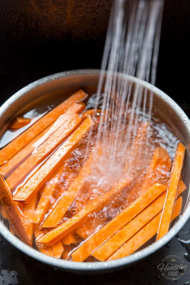 The Sweet Potato Strips are getting a water bath