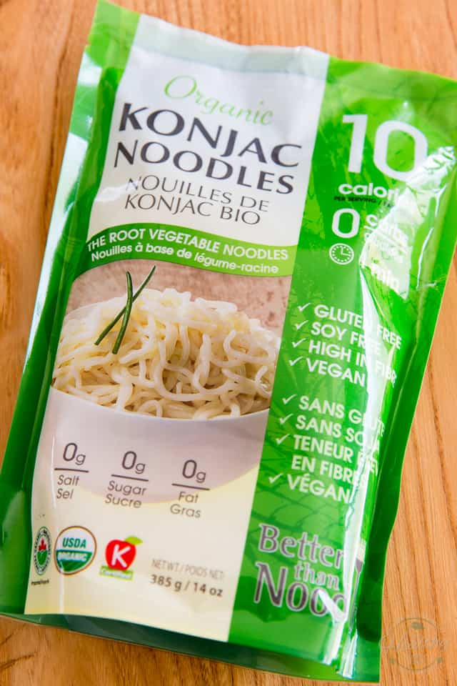 A package of Konjac noodles