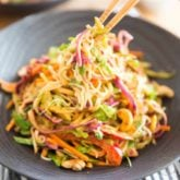 Thai Fusion Veggie Noodle Salad by Sonia! The Healthy Foodie | Recipe on thehealthyfoodie.com