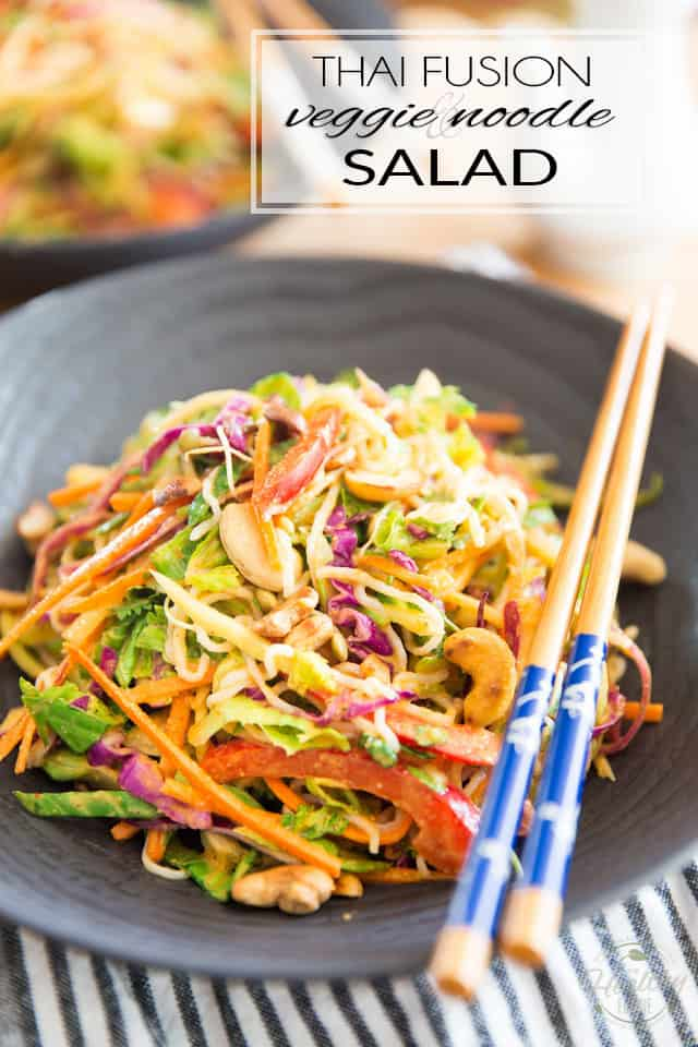 In the mood for Thai but not sure if you prefer soup or salad? No need to decide! This Thai Fusion Veggie Noodle Salad offers the best of both worlds: a plethora of veggies, loads of chewy Konjac noodles and an explosion of delicious Thai flavors. All cravings addressed!