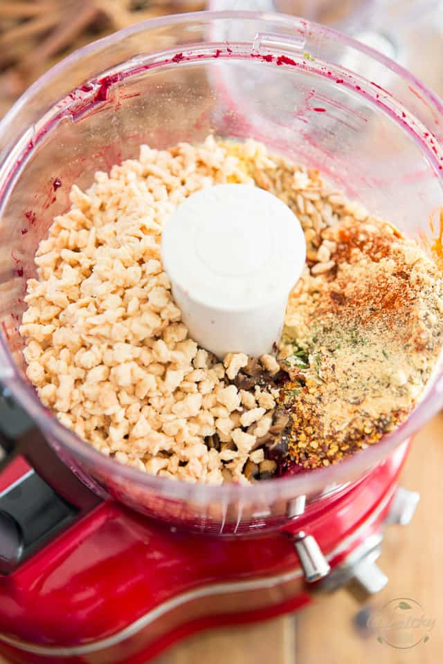 Adding all the ingredients to food processor