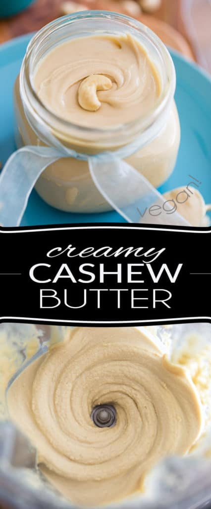 Stop spending fortunes on store-bought creamy cashew butter! 5 minutes and 3 ingredients are all you will be needing to make your own at home, for a fraction of the price.