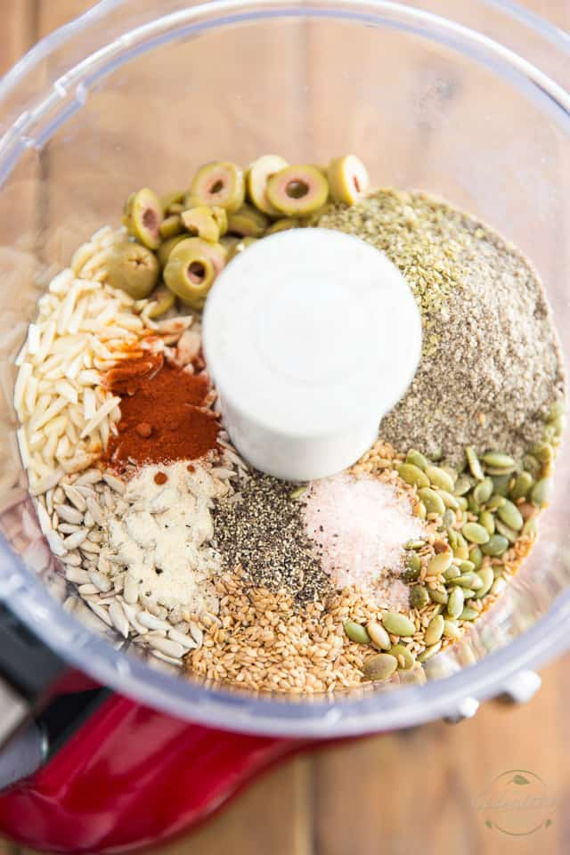 Place the ingredients in the bowl of your food processor