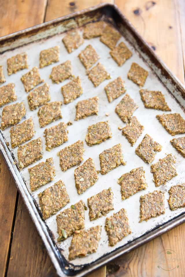 Place the crackers back onto an unlined baking sheet