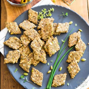 Green Olives Flax Seed Crackers