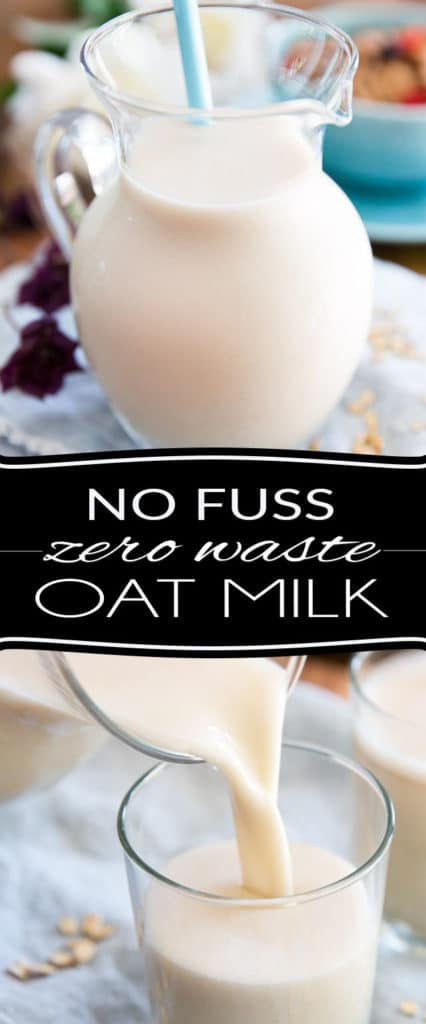 This Homemade Oat Milk requires only 2 ingredients and about 5 minutes of your time to prepare. Incredibly easy, it costs nearly nothing to make, on top of generating absolutely zero waste. It's a no fuss, no mess and no straining needed recipe. Simply put: there's nothing not to love about it!