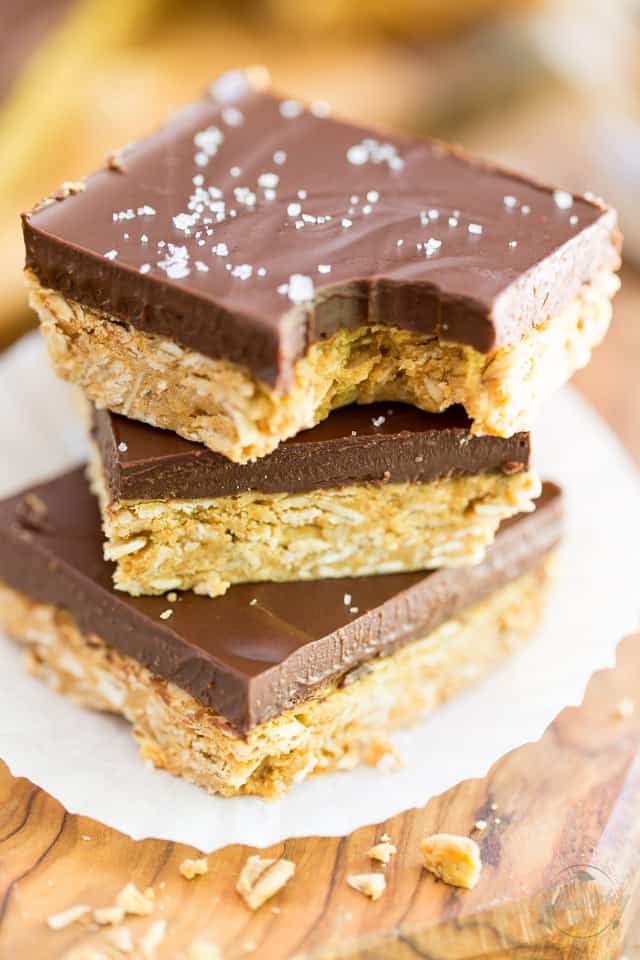 Peanut Butter Oatmeal Chocolate Squares by Sonia! The Healthy Foodie | Recipe on thehealthyfoodie.com