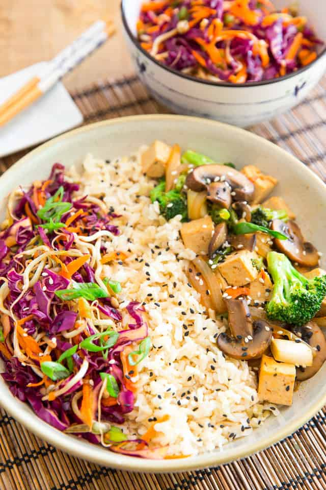 Sweet and Spicy Asian Style Tofu Bowl by Sonia! The Healthy Foodie | Recipe on thehealthyfoodie.com