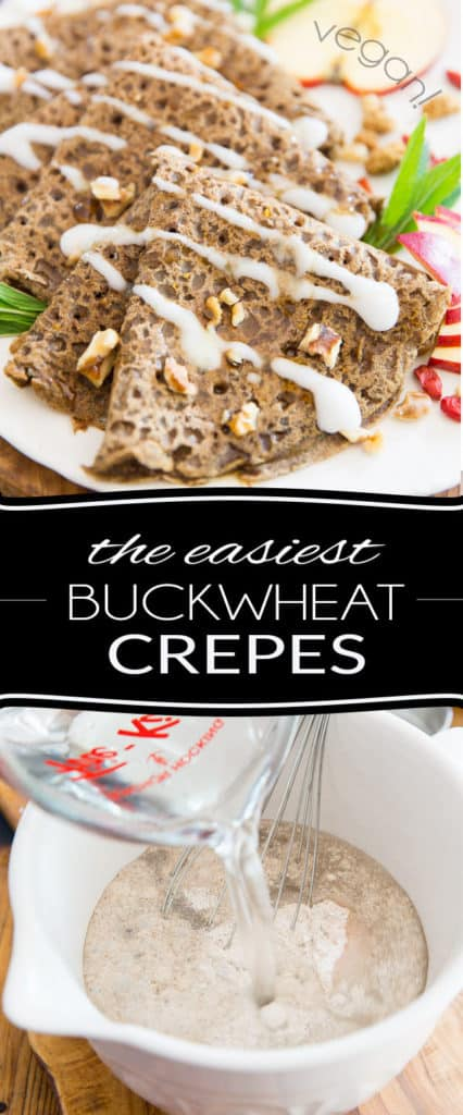Naturally vegan and gluten-free, these thin Buckwheat Crepes require only 1 ingredient to make and are equally delicious in sweet or savory dishes, making them a perfect option for breakfast, lunch or dinner!