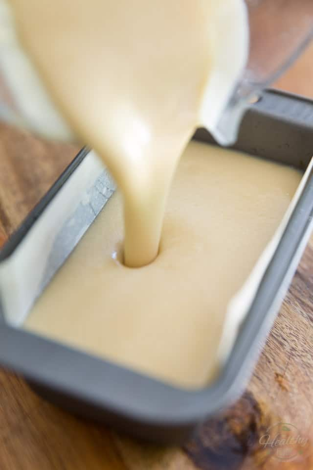 Pour the liquid butter into the pan and place in the fridge to set