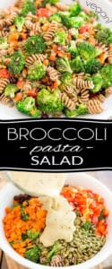This Vegan Broccoli Pasta Salad is so incredibly tasty that no one will realize exactly how much veggies they're actually eating! It's the perfect way to get kids and picky eaters to get their daily intake!