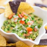 This crazy good Chunky Guacamole is the ultimate healthy and delicious crowd-pleaser dip! Made with nothing but fresh, wholesome ingredients, it's packed with an insane amount of flavor, yet requires only 6 easy-to-find ingredients and 15 minutes of your time to whip up!