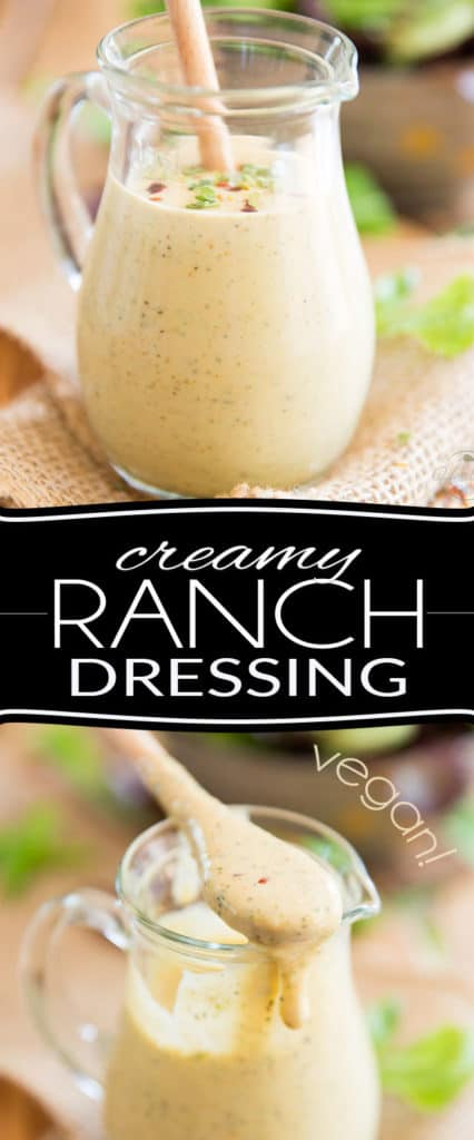 This Homemade Creamy Vegan Ranch Dressing only takes minutes to make and tastes so crazy good, it will forever change the way you think of salads... In fact, you'll probably want to have salad every day, from now on!